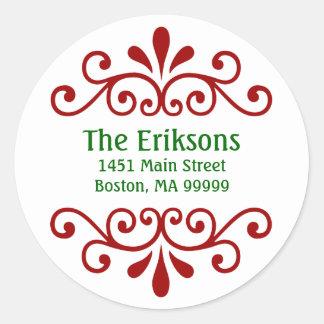 Etiquetas de dirección personalizadas del navidad