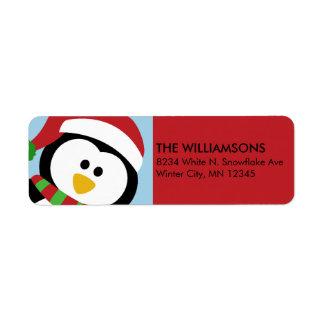 Etiquetas de dirección personalizadas del pingüino