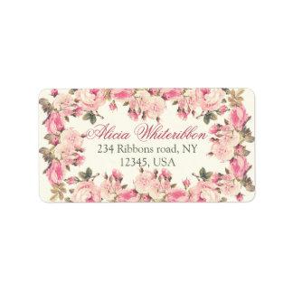 Etiquetas de dirección personalizadas florales sub