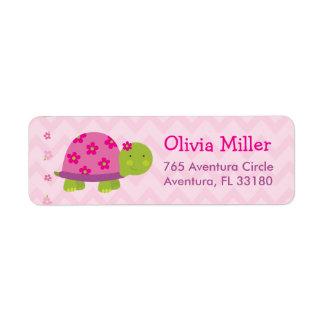 Etiquetas de dirección personalizadas rosa de Baby