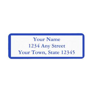 Etiquetas de dirección Pre-Impresas azul marino de