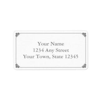 Etiquetas de dirección Pre-Impresas gris de encarg