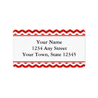 Etiquetas de dirección Pre-Impresas rojo del sobre