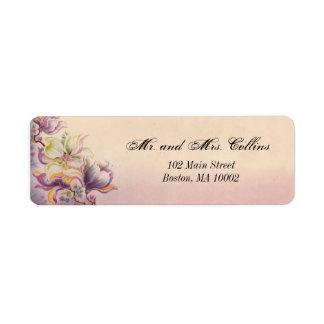 Etiquetas de dirección preciosas de las flores