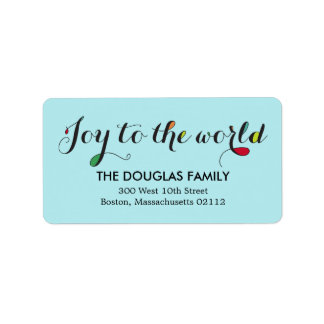 Etiquetas de dirección puras de la alegría
