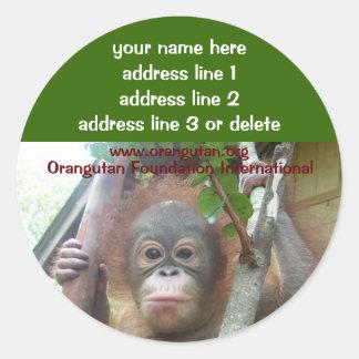 Etiquetas de dirección rescatadas OFI de la Pegatina Redonda