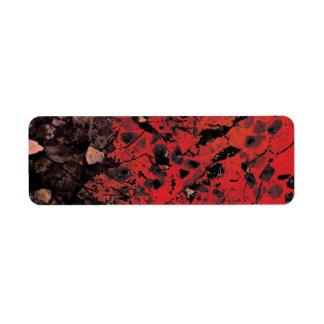 Etiquetas de dirección rojas del granito