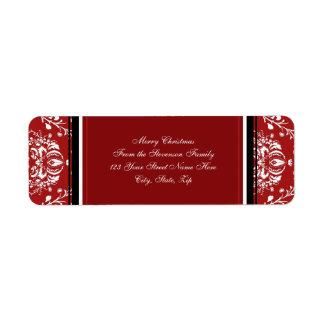 Etiquetas de dirección rojas del navidad del