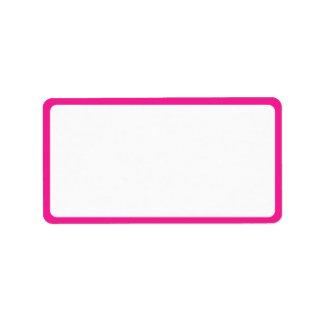 Etiquetas de dirección rosadas de los flamencos