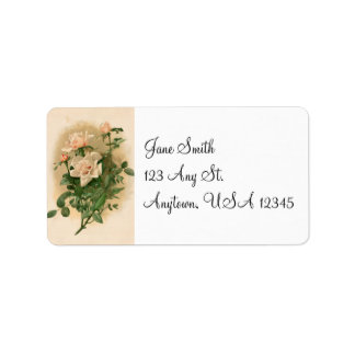 Etiquetas de dirección rosadas de los rosas del vi