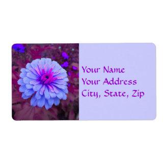 Etiquetas de dirección rosadas del Zinnia del
