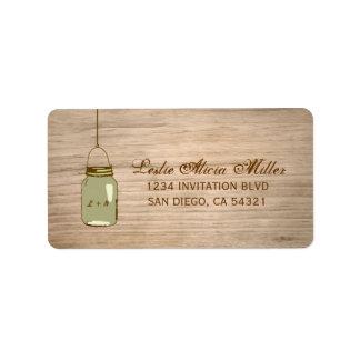 Etiquetas de dirección rústicas de madera del tarr