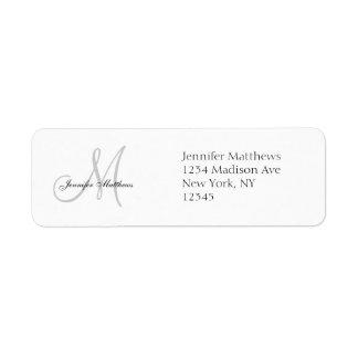 Etiquetas de dirección simples de la invitación de