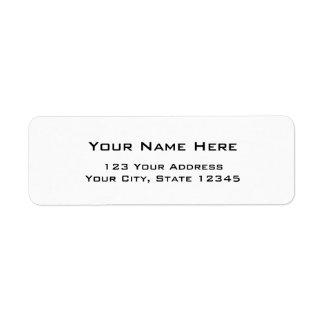 Etiquetas de dirección simples modernas