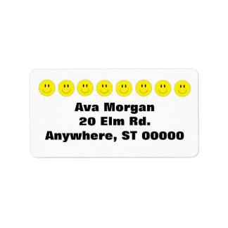 Etiquetas de dirección sonrientes