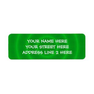 Etiquetas de dirección verdes espirales