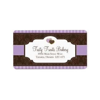 Etiquetas de empaquetado de la panadería etiquetas de dirección