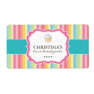 Etiquetas de empaquetado de la panadería etiqueta de envío