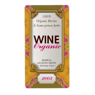 Etiquetas de encargo de la botella de vino de los  etiquetas de envío