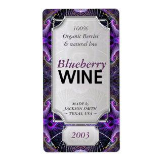 Etiquetas de encargo de la botella de vino del etiquetas de envío