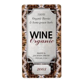 Etiquetas de encargo de la botella de vino del tex etiqueta de envío