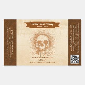 Etiquetas de encargo de la cerveza de la cerveza pegatina rectangular