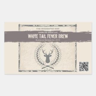 Etiquetas de encargo de la cerveza del Grunge del Pegatina Rectangular