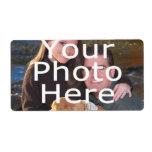 Etiquetas de encargo de la foto etiquetas de envío
