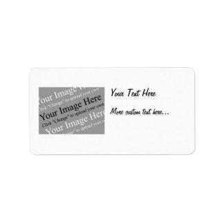 Etiquetas de encargo de la imagen y de dirección d etiquetas de dirección