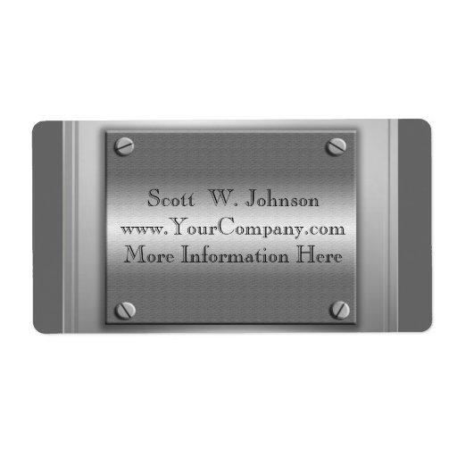 Etiquetas de encargo de la mirada del metal del ne etiqueta de envío