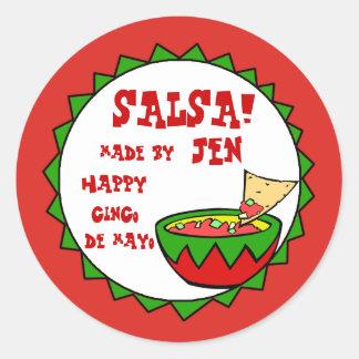 Etiquetas de encargo de la salsa para la salsa hec