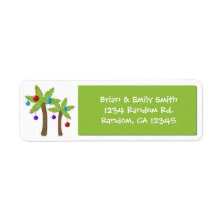 Etiquetas de encargo del día de fiesta de la palme etiqueta de remite