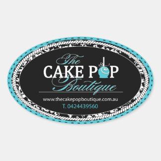 Etiquetas de encargo del estallido de la torta pegatina ovalada