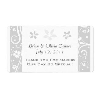 Etiquetas de encargo del favor del boda etiqueta de envío