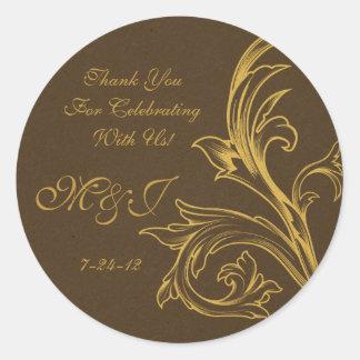 Etiquetas de encargo del favor del boda