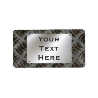 Etiquetas de encargo del letrero del metal etiquetas de dirección