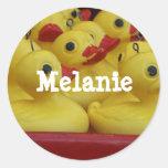 Etiquetas de encargo del nombre de Melanie de los
