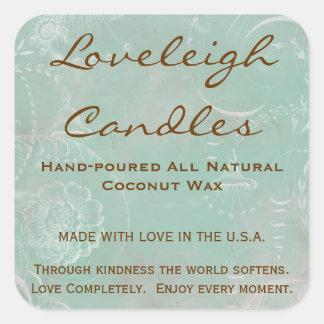 Etiquetas de encargo del producto de Loveleigh con Calcomanía Cuadradas