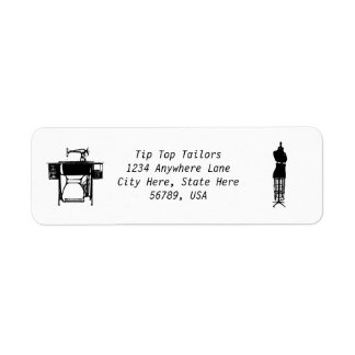 Etiquetas de encargo del remite de la costurera de etiqueta de remite