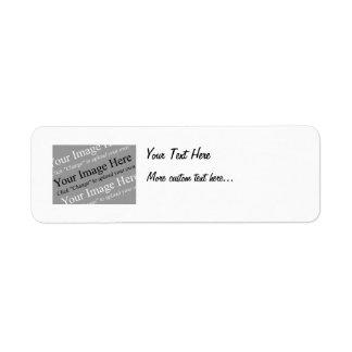 Etiquetas de encargo del remite de la imagen y del etiquetas de remite