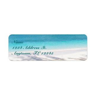 Etiquetas de encargo del remite de la playa etiqueta de remitente