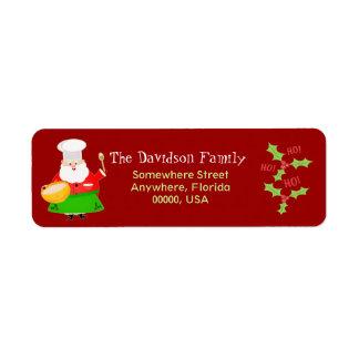 Etiquetas de encargo del remite de Santa del navid Etiquetas De Remite