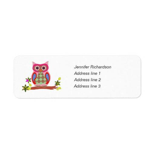 Etiquetas de encargo del remite del arte colorido  etiqueta de remite