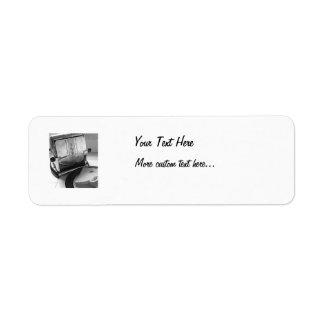 Etiquetas de encargo del remite del arte de la etiqueta de remite