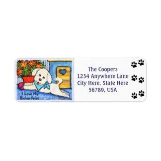 Etiquetas de encargo del remite del arte del perro etiqueta de remitente