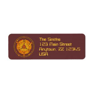 Etiquetas de encargo del remite del círculo de la etiqueta de remite