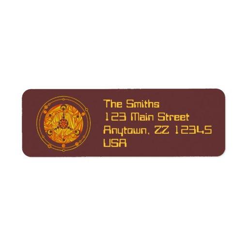 Etiquetas de encargo del remite del círculo de la etiquetas de remite