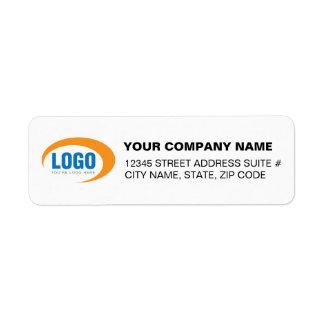 Etiquetas de encargo del remite del logotipo del etiquetas de remite