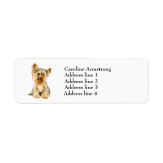Etiquetas de encargo del remite del perro de etiqueta de remite