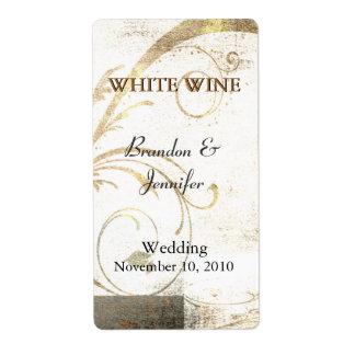 Etiquetas de encargo del vino del boda del Flouris Etiqueta De Envío
